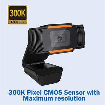 480P Auto Focus Webcam w Mic