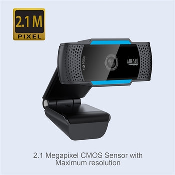 1080p HD Webcam w Dual Mic