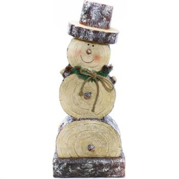 """GT 38""""H Wooden Snowman Statue"""