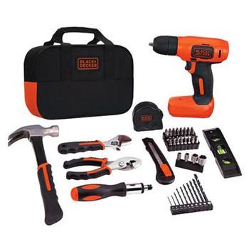BD Crdlss Drill 8v & Tool Kit