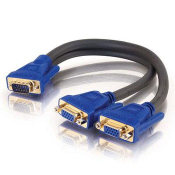 HD15 M to Two HD15 F Y Cable