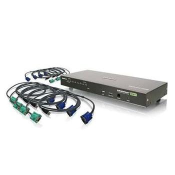 8 Port Combo VGA KVMP Switch