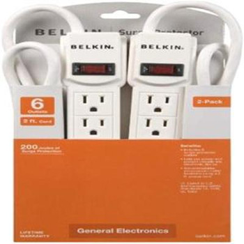 6 Outlet SurgePrtctr w 2' Cord