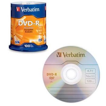 DVD R 4.7GB 16X 100 Pack