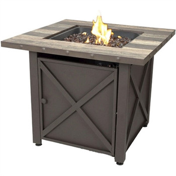 LP Gas Fire Table Brown