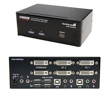 2 Port Dual DVI USB KVM Switch