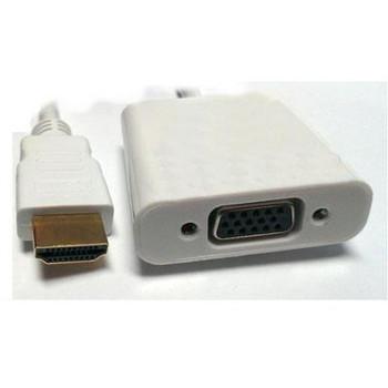 HDMI M to VGA F White