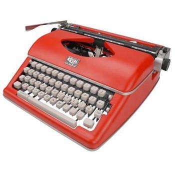 Royal Classic Typewriter Red