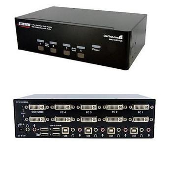 4 Port Dual DVI USB KVM Switch