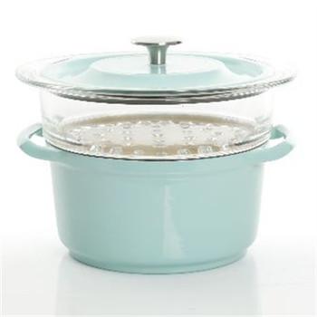 3qt casserole w Glass steamer - 12761103