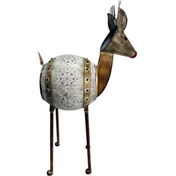"""GT 32""""H Metal Barrel Reindeer"""