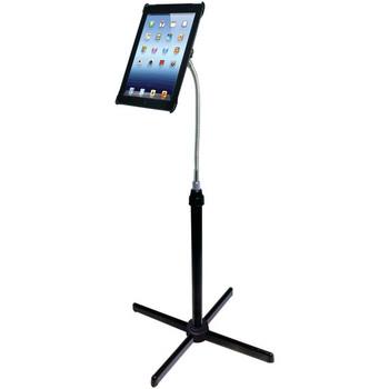 "Height-Adjustable Gooseneck Floor Stand for 7""-13"" Tablets"
