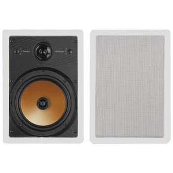 "175-Watt Acoustech 8"" 3-Way In-Wall Speakers with Adjustable Tweeters & Pivoting Midranges"