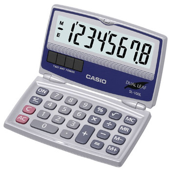 Solar Calculator with Folding Hard Case