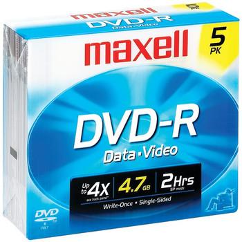 4.7GB 120-Minute DVD-Rs (5 pk)