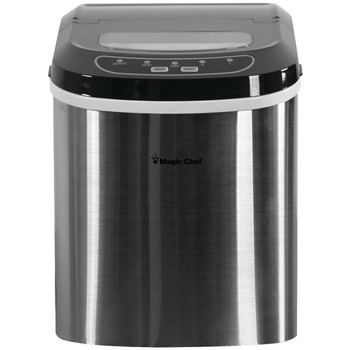 27-Pound-Capacity Portable Ice Maker (Stainless with Black Top)