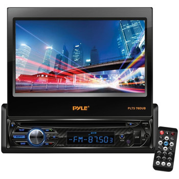 """7"""" Single-DIN In-Dash DVD Receiver with Motorized Fold-out Touchscreen & Bluetooth(R)"""