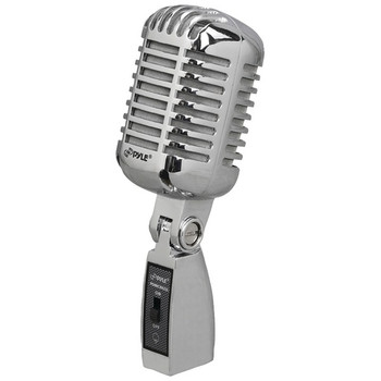Classic Retro Vintage-Style Dynamic Vocal Microphone (Silver)