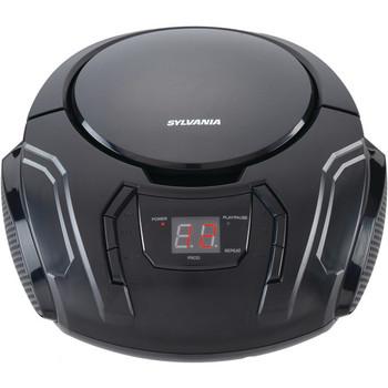 Portable CD Player with AM/FM Radio (Black)
