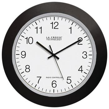 "12"" Black Atomic Wall Clock"