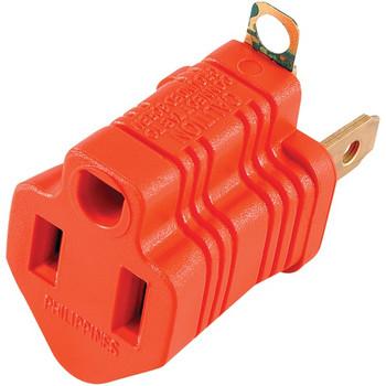 Polarized Grounding Adapter Plug, 2 pk