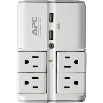 Essential SurgeArrest(R) 4-Rotating-Outlets Wall Tap with 2 USB Charging Ports