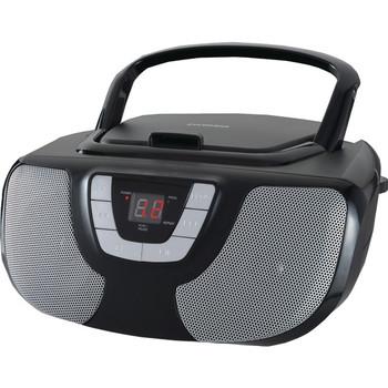 Portable CD Radio Boom Box (Black)