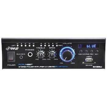 120-Watt x 2 Mini Blue Series Bluetooth(R) Stereo Power Amp