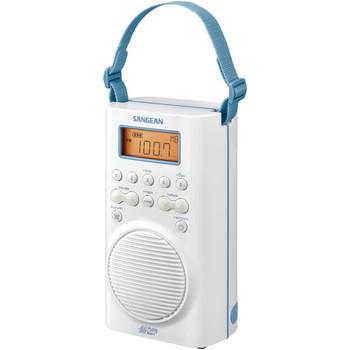 AM/FM/Weather Alert Waterproof Shower Radio (White)