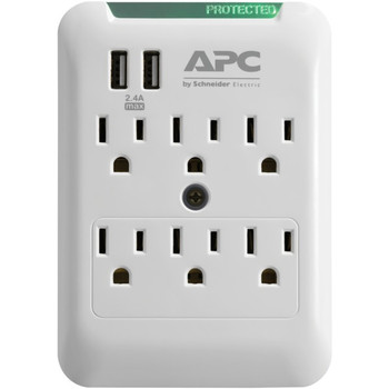 Essential SurgeArrest(R) 6-Outlet Wall Tap with 2 USB Charging Ports