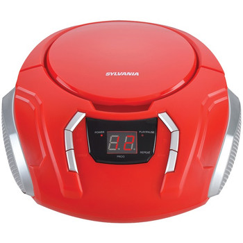 Portable CD Player with AM/FM Radio (Red)