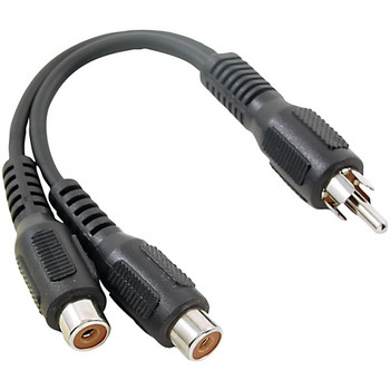 RCA Y-Adapter (1 Male to 2 Females)