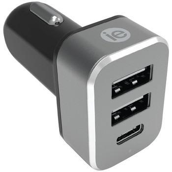 4.1-Amp Car Charger, 2 USB-A & 1 USB-C(TM)