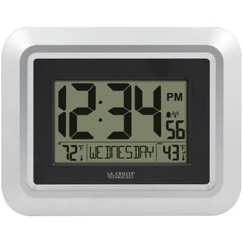 Atomic Digital Wall Clock with Indoor/Outdoor Temperature