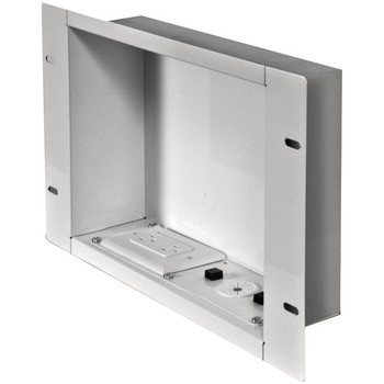 In-Wall Metal Box with Knockout (With Power Outlet)