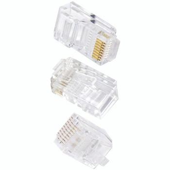 8-Pin CAT-6 Crimp Connectors, 50-Pack