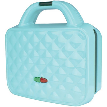 Couture Purse Nonstick Dual Waffle Maker (Blue)