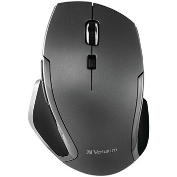 Wireless Notebook 6-Button Deluxe Blue LED Mouse (Graphite)
