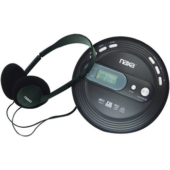 Slim Personal CD/MP3 Player with FM Radio
