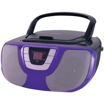 Portable CD Radio Boom Box (Purple)