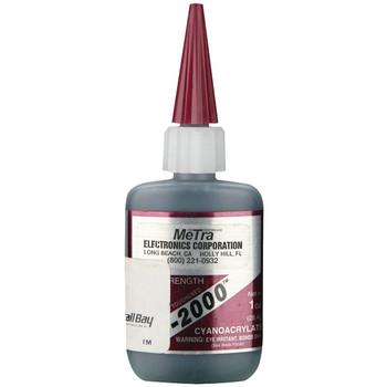 Instant Rubber Tough Black Glue, 1oz