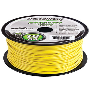 18-Gauge Primary Wire, 500ft (Yellow)