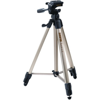 """Tripod with 3-Way Pan Head (Folded height: 20.8""""; Extended height: 60.2""""; Weight: 2.3lbs; Includes 2nd quick-release plate)"""
