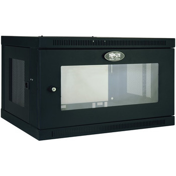 SmartRack(R) 6U Low-Profile Switch-Depth Wall-Mount Rack Enclosure Cabinet with Clear Acrylic Window