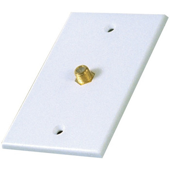 Single Coaxial In-Line Wall Plate