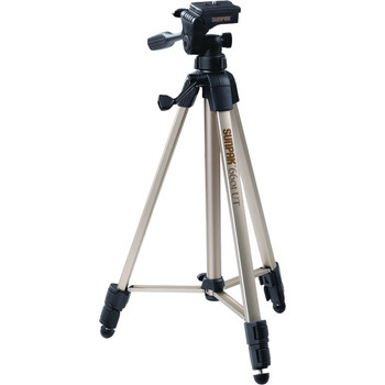 """Tripod with 3-Way Pan Head (Folded height: 20.3""""; Extended height: 58.32""""; Weight: 2.8lbs; Includes 2nd quick-release plate)"""
