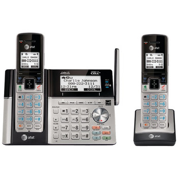 DECT 6.0 Connect-to-Cell(TM) 2-Handset Phone System with Dual Caller ID