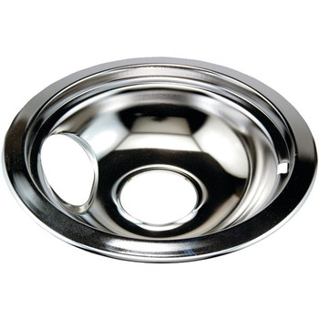 """Chrome Replacement Drip Pan for Whirlpool(R) (6"""")"""