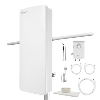 AT-800SBS HD Smart Panel Amplified HDTV and FM Amplified Indoor/Outdoor Antenna