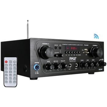 250-Watt Compact Bluetooth(R) Audio Stereo Receiver with FM Radio